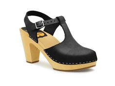 T-Strap Sky High - Swedish Hasbeens in Black size 38
