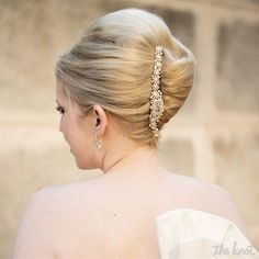 かっこかわいい♡エレガントな『夜会巻き』で誰も近づけない位の美人花嫁に*にて紹介している画像