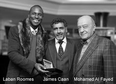 Laban Roomes, James Caan and Mohammed Al Fayed