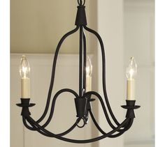 "add chrome bulbs 15.5"" diameter, 19"" high, 6' chain  ARMONK 3-ARM CHANDELIER online only $199"
