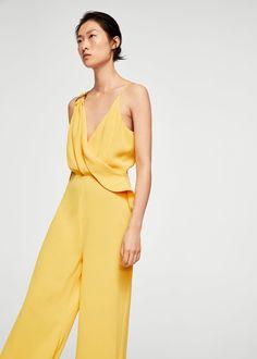 Mango Ring Wrap Jumpsuit - Women | Yellow Xxs