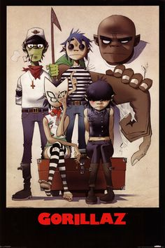 Gorillaz – All Here Poster at AllPosters.com