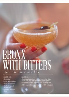 bronx with bitters | recipe found in Vintage Spirits and Forgotten Cocktails | image by lily glass