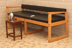 low back bench with leather