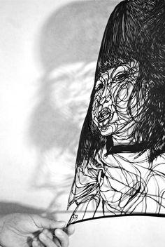 Hiromi Moneyhun - papercut art - Untitled —