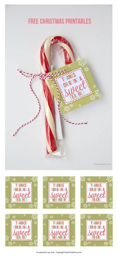 Free Christmas printables on iheartnaptime.com ...cute and easy gifts!