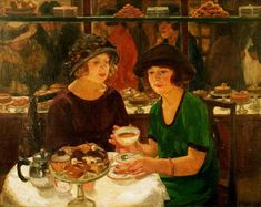 The Tea Table Mabel Frances Layng  (Eng 1881-1937)