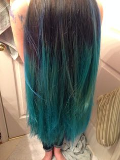 Atomic Turquoise and Rockabilly blue manic panic hair