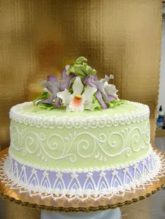 Elegant Birthday Cake By The EvIl Planktonjpg cakepins.com