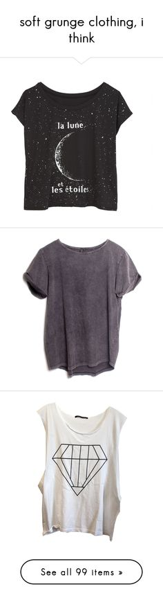 """""""soft grunge clothing, i think"""" by sierrasaphira ❤ liked on Polyvore featuring tops, t-shirts, shirts, tees, graphic tees, graphic print t shirts, shirts & tops, graphic design t shirts, graphic design shirts and graphic t shirts"""