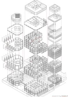 alison and peter smithson the economist building - axonometría explotada Model House Plan, House Plans, In Plan, How To Plan, Alison And Peter Smithson, Building Drawing, Studios Architecture, Decorative Boxes, Presentation