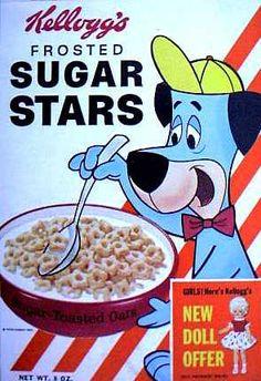 Sugar Stars cereal  c. 1961  Huckleberry Hound