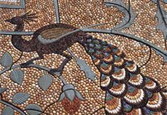 The ancient art of hand-made pebble mosaic paving