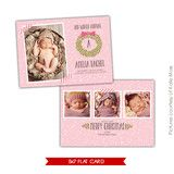 Holiday Photocard Template | Winter arrival | Photoshop templates for photographers by Birdesign