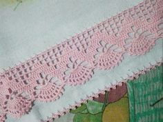 How to Crochet Wave Fan Edging Border Stitch Crochet Edging Patterns, Crochet Lace Edging, Crochet Borders, Crochet Stitches, Embroidery Patterns, Crochet Squares, Diy Crafts Crochet, Crochet Home, Easy Crochet