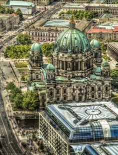 Berliner Cathedral from above by pingallery on deviantART