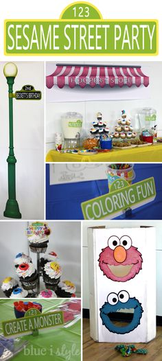 Diy sesame street lamp post a robustly crafty elmo birthday party a sesame street themed second birthday party including arts and crafts and a diy aloadofball Image collections