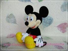 Free+Japanese+Amigurumi+Patterns | Work: Mickey Mouse 10 inches - PDF amigurumi crochet pattern - Rings