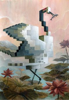 Des animaux cubisés - La boite verte
