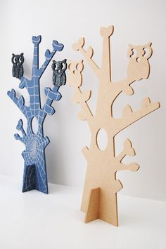 MDF 3D Tree with Owls Craft Blank decorated for Halloween!