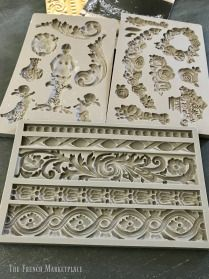 Have you ever seen those beautiful, French panels used in decor? You usually see them propped against something or hanging on the wall. They're amazing and they are … Furniture Repair, Furniture Projects, Furniture Makeover, Diy Projects, Plaster Crafts, Plaster Art, Diy Furniture Appliques, Baroque Decor, Iron Orchid Designs