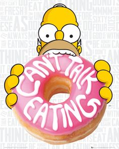The Simpsons - Eating - Official Mini Poster. Official Merchandise. FREE SHIPPING                                                                                                                                                                                 More