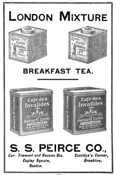 1905 ad: London Mixture Breakfast Tea