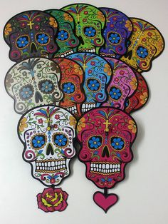 Blue Sugar Skull Day of the Dead Dia de Los by SolPixieDust