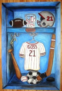 Sports Nut  Storybook Paintings by WallaceWhimsies on Etsy, $150.00