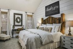 If you like farmhouse bedroom, you will not ever be sorry. If you decide on farmhouse bedroom, you won't ever be sorry. If you go for farmhouse bedroom, you're never likely to be sorry. When you're searching for farmhouse bedroom… Continue Reading → Small Master Bedroom, Master Bedroom Design, Home Decor Bedroom, Bedroom Designs, Bedding Decor, Rustic Bedroom Furniture, Decor Room, Bedroom Styles, Industrial Furniture