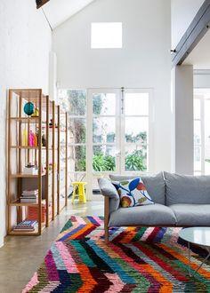 hermosa y colorida alfombra