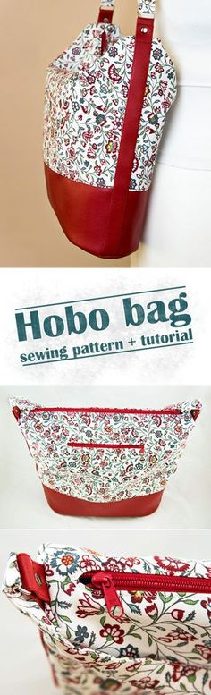Hobo bag sewing pattern and tutorial by Ardente Design.