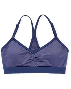 Aerie Play Mesh Sports Bra, Deep Waters | Aerie for American Eagle