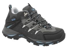 AdTec Womens Black Leather Low Cut Steel Toe Hiker Suede Shoes
