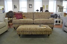 Fabric Sofas & Suites : Park Lane 3 Seater Sofa with Footstool