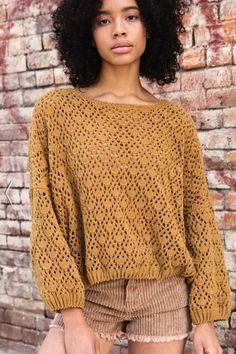New Arrivals – Terra Cotta - Diy Crafts Crochet Jumper, Crochet Shorts, Crochet Crop Top, Crochet Cardigan, Diy Crochet, Crochet Clothes, Crochet Fashion, Knitwear, Crochet Patterns