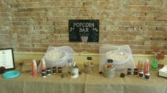 The Popcorn Bar was a huge hit...so much fun mixing your own popcorn concoctions.