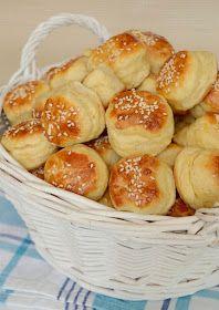 Citromhab: Szezámmagos pogácsa