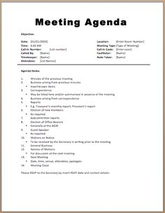 Meeting Minutes Template Includes Individual Agenda Topics And