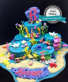 "Under The Sea Cake by ""Look at the Cake""by Darley, Victoria Australia"
