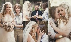 Lesbian bride, 25, whose wedding was shunned by her religious parents is flooded with messages of support after posting beautiful photos of the nuptials online