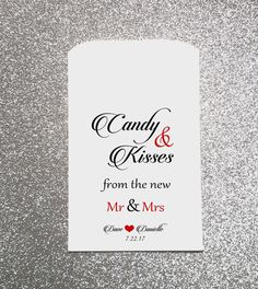 W1 Candy and Kisses from the New Mr & Mrs Wedding Candy Bag