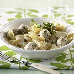 Rezept für Königsberger Pasta bei Essen und Trinken. Ein Rezept für 2 Personen. Und weitere Rezepte in den Kategorien Gemüse, Kräuter, Milch   Milchprodukte, Nudeln / Pasta, Schwein, Alkohol, Hauptspeise, Kochen.