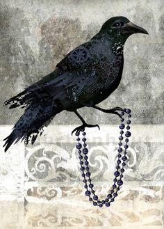art print Castle Crow digital painting with by FleurBonheur, $19.00