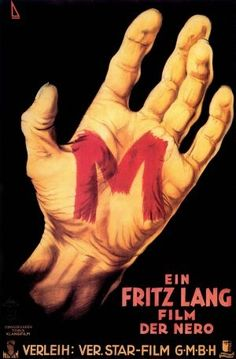 M (Fritz Lang, 1931), a classic of world cinema, featuring an iconic performance by Peter Lorre, Lang's crime film dissects the manhunt for a child killer, where police and criminals join forces. Find this at 791.43743 M