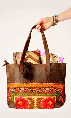 Vintage Leather Tote