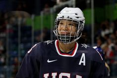 Julie Chu, all-time leading scorer in NCAA history and Captain of the US Women's Ice Hockey Team