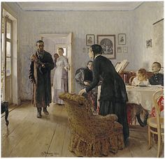 Ilja Repin - They Did Not Expect Him.