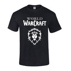 World of Warcraft Alliance Symbol 2016 Mens Cotton T-shirt (S, Black)