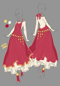 2014 February commissions - 5 by rika-dono on DeviantArt Dress Drawing, Drawing Clothes, Fashion Design Drawings, Fashion Sketches, Anime Outfits, Cute Outfits, Illustration Mode, Illustrations, Anime Dress